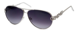 Guess 'G-By-Guess'  Designer Sunglasses Series GGU1097 in Silver Frame with Grey Gradient Lens