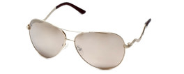 Guess 'G-By-Guess'  Designer Sunglasses Series GGU1107 in Gold Frame with Silver Mirror Lens