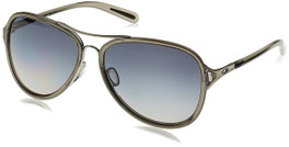 Oakley Designer Sunglasses Kickback in Black Ice & Grey Gradient Polarized Lens (OO4102-13)