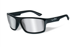 Wiley X Peak in Gloss-Black & Silver Flash Lens