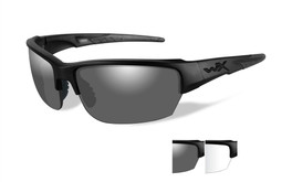 Wiley X Saint in Matte-Black with Grey  & Clear Lens Set