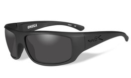 Wiley-X High Performance Eyewear Omega Sunglasses in Matte-Black with Grey Lens (ACOME01)
