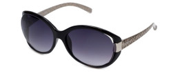 Guess  Designer Sunglasses GUF214 in Black Frame with Grey Gradient Lens