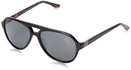 Spine Optics Designer Sunglasses SP7002-001 in Black with Polarized Grey Tint 59mm