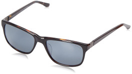 Spine Optics Designer Sunglasses SP7005-020 in Black with Polarized Silver Flash Mirrored Grey Tint 59mm