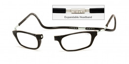 93c8509532 Clic Magnetic Eyewear XXL Fit Original Style in Black    Custom Left    Right Lens