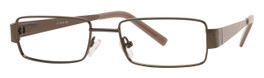 Calabria Viv 367 Brown Designer Eyeglasses :: Custom Left & Right Lens