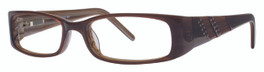 Calabria Viv 659 Brown Designer Eyeglasses :: Custom Left & Right Lens