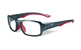 5089e7629a3 Wiley-X Youth Force Series  Fierce  in Dark Silver   Red Safety Eyeglasses