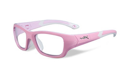df4f725104c Wiley-X Youth Force Series  Flash  in Rock Candy Pink Safety Eyeglasses