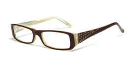 Calabria Viv Designer Eyeglasses 4015 in Brown :: Custom Left & Right Lens