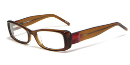 Calabria Viv Designer Eyeglasses 4020 in Brown :: Custom Left & Right Lens