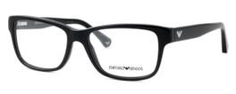 Emporio Armani Designer Eyeglasses EA3051-5017 in Black :: Custom Left & Right Lens