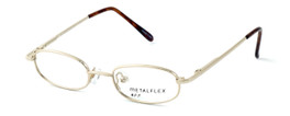 Calabria Kids Fit MetalFlex Designer Eyeglasses FF in Gold :: Custom Left & Right Lens