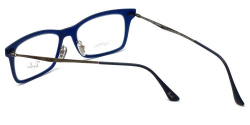 69719a72684 ... Ray-Ban Designer Eyeglasses RB7039-5451 in Matte-Blue 51mm    Custom ...