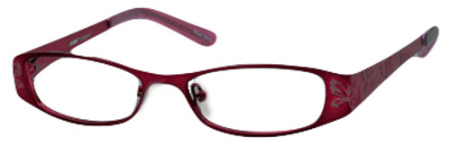 Seventeen Designer Eyeglasses 5335 in Burgundy :: Rx Single Vision