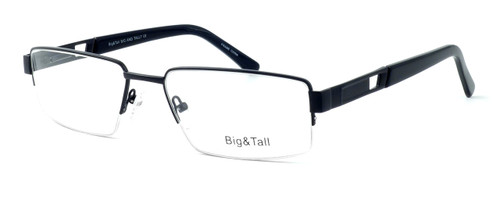 """Calabria Optical Designer Eyeglasses """"Big And Tall"""" Style 7 in Black :: Rx Single Vision"""