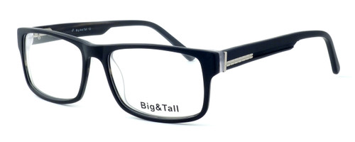 """Calabria Optical Designer Eyeglasses """"Big And Tall"""" Style 10 in Black :: Rx Single Vision"""