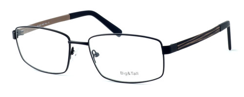 """Calabria Optical Designer Eyeglasses """"Big And Tall"""" Style 12 in Black-Brown :: Rx Single Vision"""
