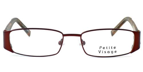 Visage Petite Designer Eyeglasses 100 in Brown :: Progressive ...