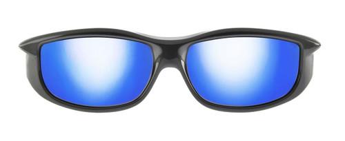 1afc952ddc ... Jonathan Paul® Fitovers Eyewear Large Torana in Dark-Charcoal   Blue  Mirror TR002BM ...