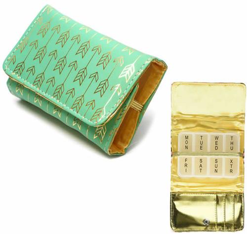 Fashion 7-Day Pill Box in Jade-Dart