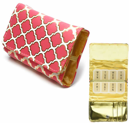 Fashion 7-Day Pill Box in Moroccan-Rouge