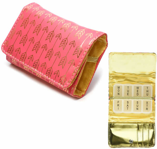 Fashion 7-Day Pill Box in Rouge-Dart