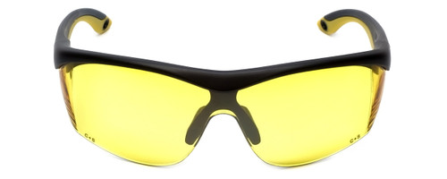 Rimless Safety Glasses S-47-NDM Z87 Safety Rated w/ Yellow Lens