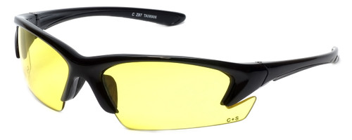 Semi-Rimless Safety Glasses S-44-ND Z87.1 Safety Rated w/ Yellow Lens