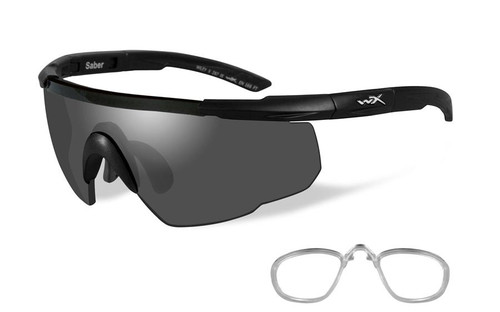 Wiley X Rx Saber Advanced Safety Sunglasses in Matte Black with Smoke Lens