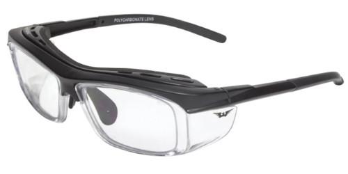 Global Vision Eyewear Full Lens RX Safety Series RX-F in Matte-Black