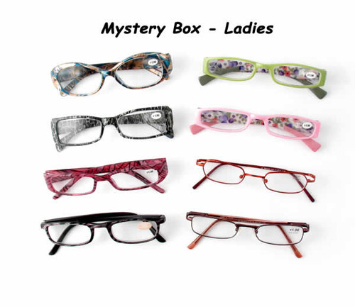 4 Pack Mystery Box Reading Glassses, Ladies Styles