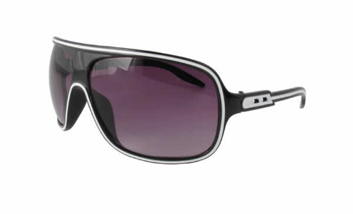 Calabria Fashion Sunglasses Speed Racer in Black/White