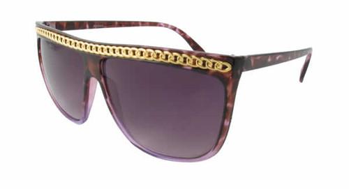 Calabria Fashion Sunglasses LB Chain in Purple