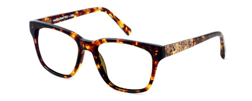 Parkman Handcrafted Reading Glasses Brickma in Tortoise with Coffee ; Made in the USA