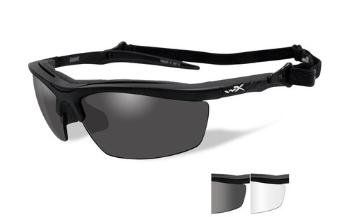 Wiley X Guard Safety Glass in Matte Black w/ Grey & Clear Lenses