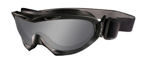 Wiley X Nerve Tactical Rx Safety Goggles in Black with Grey & Clear Lens