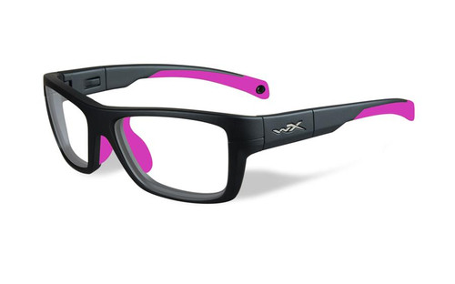 Wiley-X Designer Reading Glasses WX Crush Youth Force in Matte Grey / Deep Pink 52mm