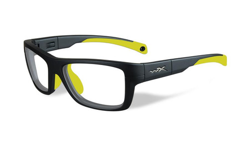 Wiley-X Designer Reading Glasses WX Crush Youth Force in Matte Grey / Neon Yellow 52mm
