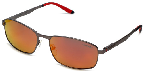 Carrera CA8012/S Designer Sunglasses in Matte Dark Ruthenium & Polarized Red Mirror Lens