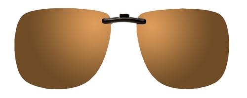 Montana Eyewear Clip-On Sunglasses C3B in Polarized Gold Mirror/Amber 62mm