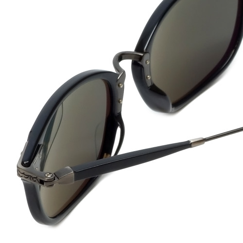 335a5dbad61 ... Reptile Designer Polarized Sunglasses Wolf in Black with Grey Lens ...