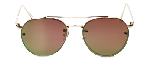 Gold Frame with Rose Tint/Flash Mirror Lens