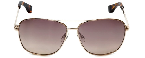 Isaac Mizrahi Designer Sunglasses Aviator in Gold with Rose Gradient