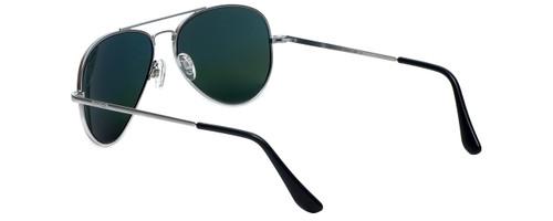 Randolph Designer Sunglasses Concorde CR081 in Matte Chrome with Gray Lens