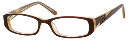 Seventeen 5350 Designer Reading Glasses in Brown