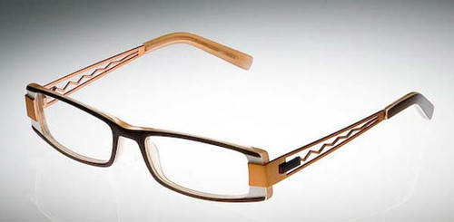 Calabria Designer Eyeglasses 809 Brown :: Custom Left & Right Lens