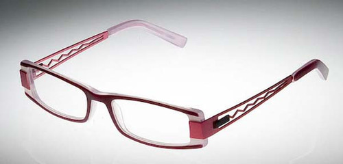 Calabria Designer Eyeglasses 809 Wine :: Custom Left & Right Lens