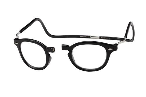 62db706c28 Clic Designer Eyeglasses Vintage Style in Black  XXL Fit     Progressive